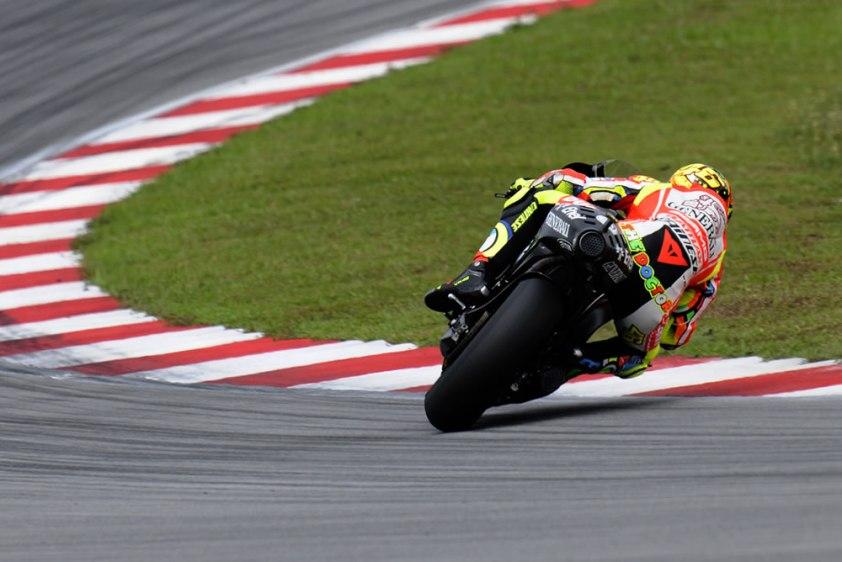 Valentino Rossi sliding